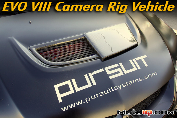 Pursuit systems camera chase car Mitsubishi EVO