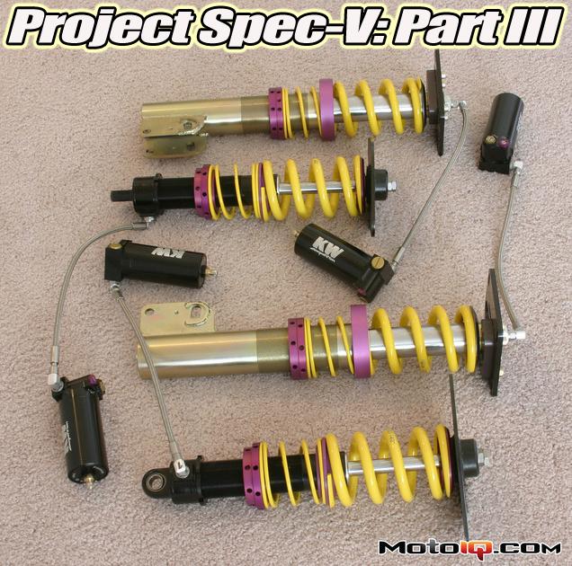 KW Motorsports 3-way adjustable dampers for Nissan Sentra Spec-V