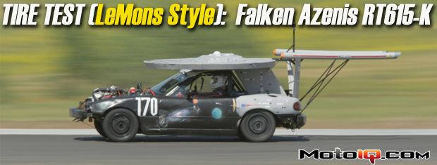 Eyesore Racing enterprise doing a warp speed tire test of the Falken Azenis RT615-K